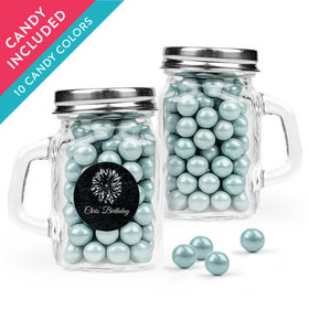 Personalized Birthday Favor Assembled Mini Mason Mug with Sixlets