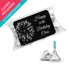 Personalized Birthday Favor Assembled Pillow Box with Hershey's Kisses