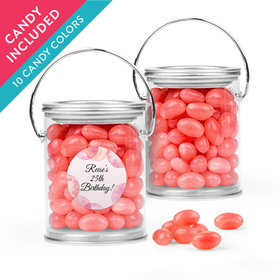 Personalized Birthday Favor Assembled Paint Can with Just Candy Jelly Beans