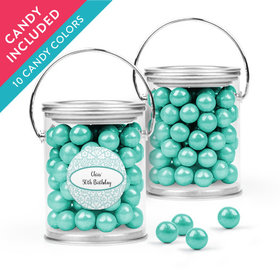 Personalized Birthday Favor Assembled Paint Can with Sixlets