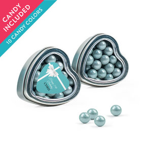 Personalized Birthday Favor Assembled Heart Tin with Sixlets