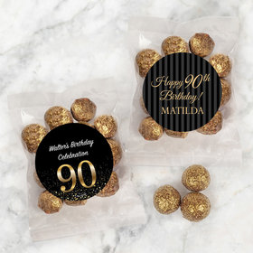 Personalized Milestone 90th Birthday Candy Bags with Premium Gourmet Sparkling Prosecco Cordials