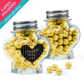Personalized Milestones Birthday Favor Assembled Heart Jar with Sixlets