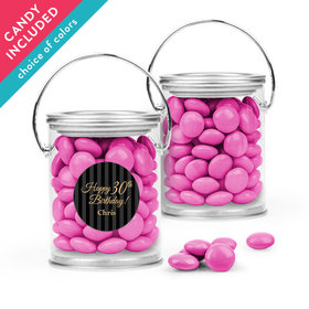 Personalized Milestones Birthday Favor Assembled Paint Can with Just Candy Milk Chocolate Minis
