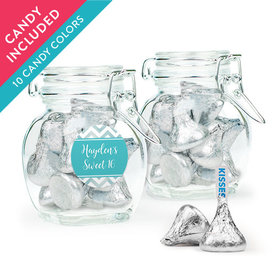 Personalized Sweet 16 Birthday Favor Assembled Swing Top Jar with Hershey's Kisses