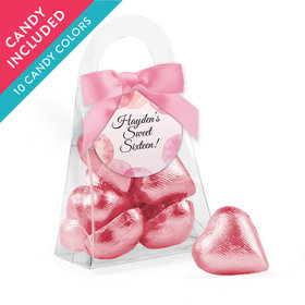 Personalized Sweet 16 Birthday Favor Assembled Purse with Milk Chocolate Hearts