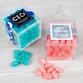 Personalized Administrative Professionals Day JUST CANDY® favor cube with Jelly Belly Jelly Beans