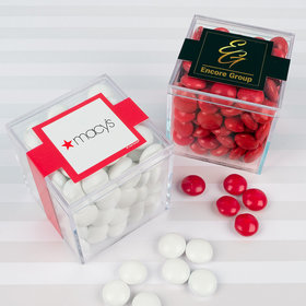 Personalized Administrative Professionals Day JUST CANDY® favor cube with Just Candy Milk Chocolate Minis