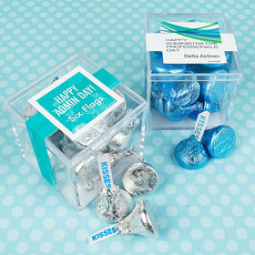 Personalized Administrative Professionals Day JUST CANDY® favor cube with Hershey's Kisses