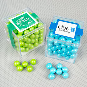 Personalized Administrative Professionals Day JUST CANDY® favor cube with Sixlets Chocolate