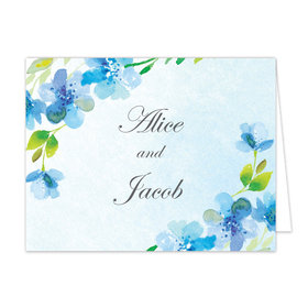 Bonnie Marcus Collection Blue Floral Thank You