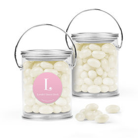 Personalized Girl Birth Announcement Favor Assembled Paint Can with Just Candy Jelly Beans