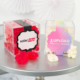 Personalized Business Add Your Logo JUST CANDY® favor cube with Gummy Bears