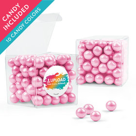 Personalized Business Add Your Logo Favor Assembled Clear Box with Sixlets