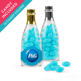 Personalized Business Add Your Logo Favor Assembled Champagne Bottle with Just Candy Jelly Beans