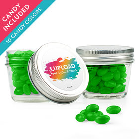 Personalized Business Add Your Logo Favor Assembled Small Mason Jar with Just Candy Jelly Beans