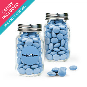 Personalized Business Add Your Logo Favor Assembled Mini Mason Jar with Just Candy Milk Chocolate Minis