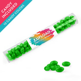 Personalized Business Add Your Logo Favor Assembled Clear Tube with Just Candy Jelly Beans