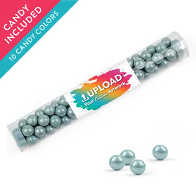 Personalized Business Add Your Logo Favor Assembled Clear Tube with Sixlets
