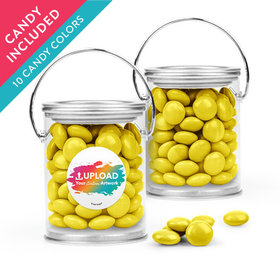Personalized Business Add Your Logo Favor Assembled Paint Can with Just Candy Milk Chocolate Minis