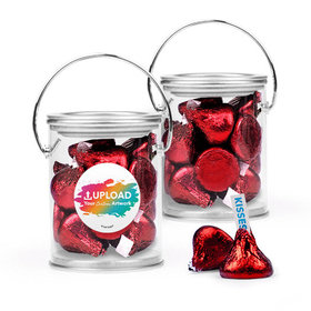 Personalized Business Add Your Logo Favor Assembled Paint Can with Hershey's Kisses