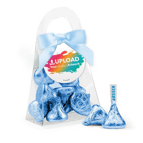 Personalized Business Add Your Logo Favor Assembled Purse with Hershey's Kisses