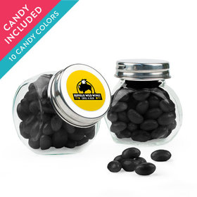 Personalized Business Add Your Logo Favor Assembled Mini Side Jar with Just Candy Jelly Beans