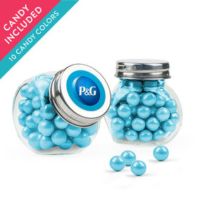 Personalized Business Add Your Logo Favor Assembled Mini Side Jar with Sixlets
