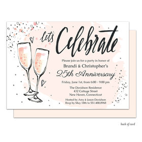 Bonnie Marcus Collection Bubbly Anniversary Party Invitation Pink