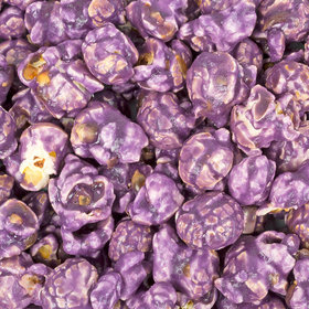 Candy Coated Purple Popcorn
