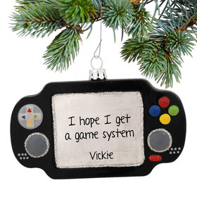 Hand Held Video Game Ornament