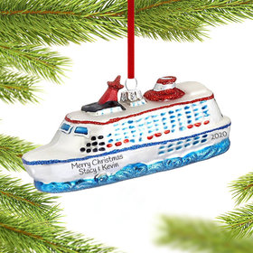 Cruise Ship on the Water Ornament