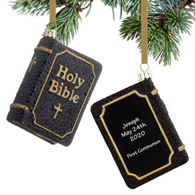 Black Holy Bible Ornament