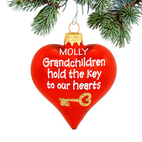 Grandchildren Hold The Key To Our Hearts Ornament