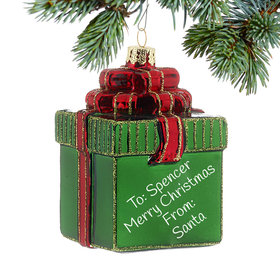 Green Package Ornament