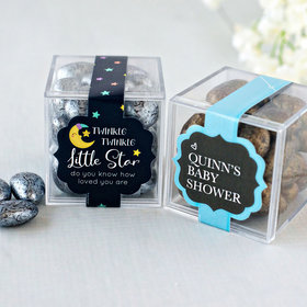 Personalized Baby Shower JUST CANDY® favor cube with Premium Almond Jewels