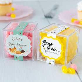 Personalized Baby Shower JUST CANDY® favor cube with Jelly Belly Jelly Beans