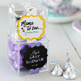Personalized Baby Shower JUST CANDY® favor cube with Hershey's Kisses