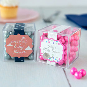 Personalized Baby Shower JUST CANDY® favor cube with Sixlets Chocolate