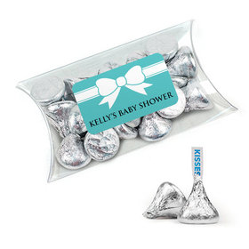 Personalized Baby Shower Favor Assembled Pillow Box with Hershey's Kisses