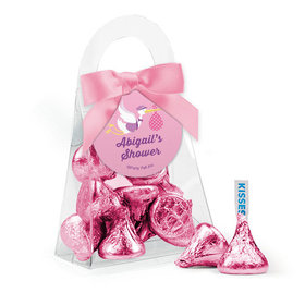 Personalized Baby Shower Favor Assembled Purse with Hershey's Kisses