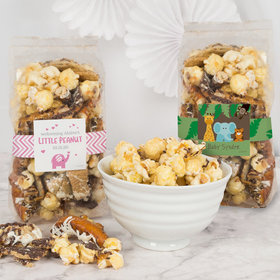Personalized Baby Shower Trendy Trash Popcorn 8 oz Bags