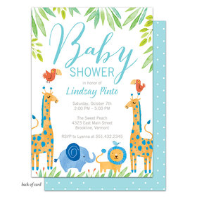 Bonnie Marcus Collection Personalized Baby Safari (Blue) Invitation