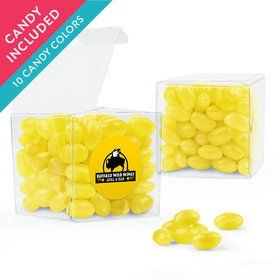 Personalized Thank You Favor Assembled Clear Box with Just Candy Jelly Beans