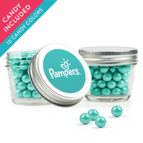 Personalized Thank You Favor Assembled Small Mason Jar with Sixlets