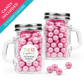 Personalized Thank You Favor Assembled Mini Mason Mug with Sixlets