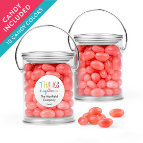 Personalized Thank You Favor Assembled Paint Can with Just Candy Jelly Beans
