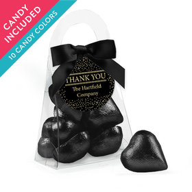 Personalized Thank You Favor Assembled Purse with Milk Chocolate Hearts