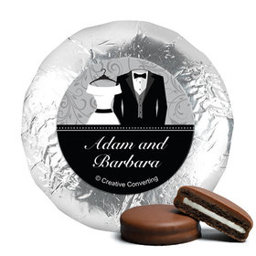 Personalized Wedding Couple Milk Chocolate Covered Oreos (24 Pack)