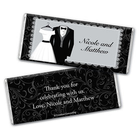 Personalized Wedding Couple Chocolate Bar & Wrapper